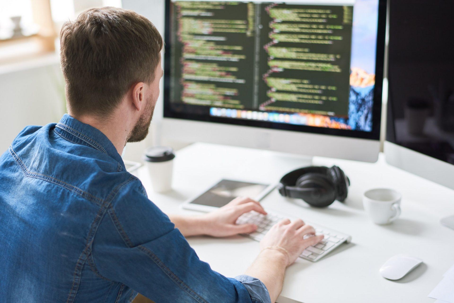 Web Developer Busy Working